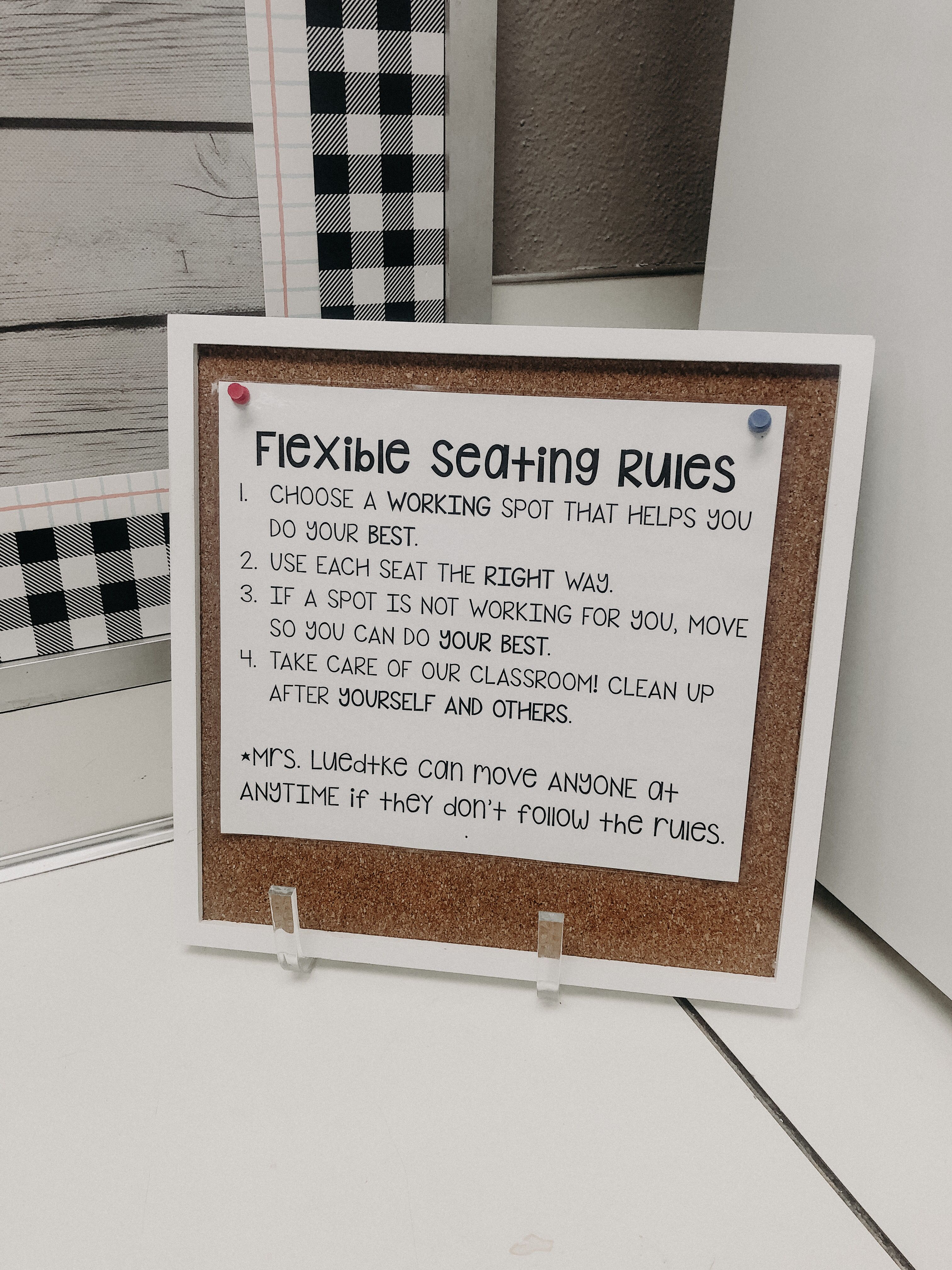 The Teacher House - Flex Seating Rules