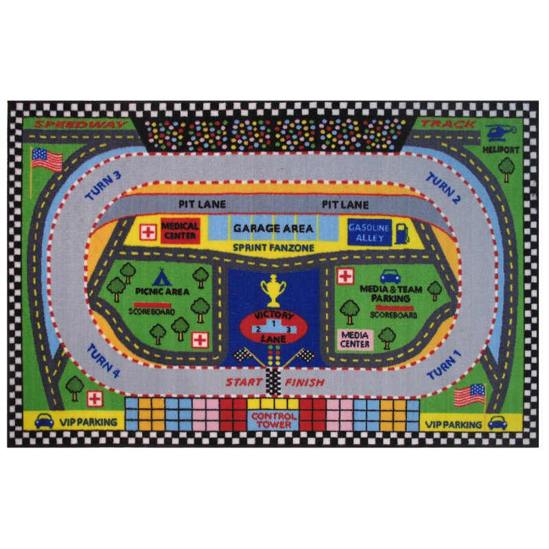 3 x 5 XSmall Speedway MultiColor Area Rug Fun Time