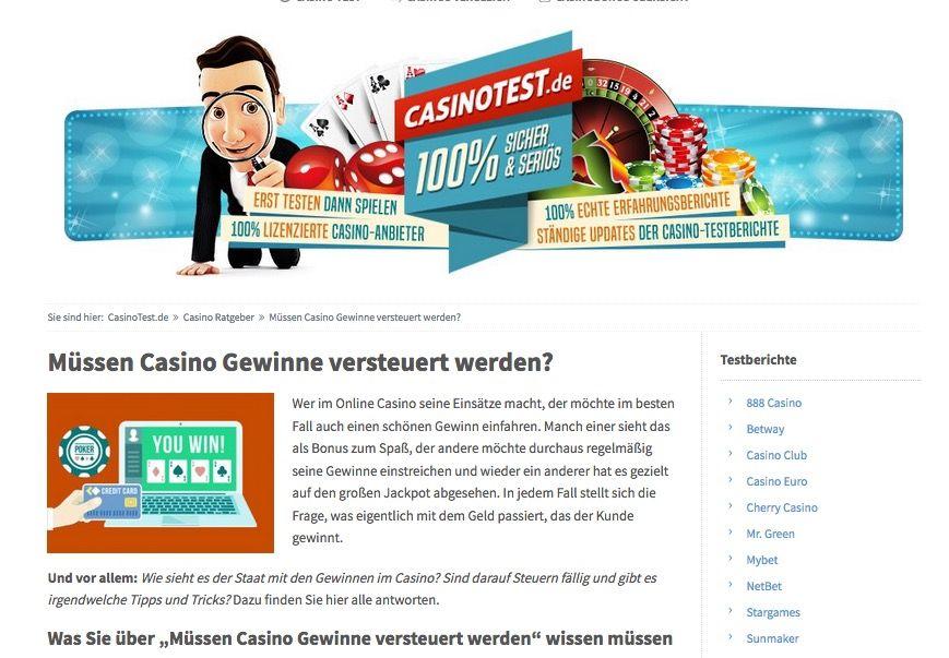 Casino Gewinne Steuerfrei