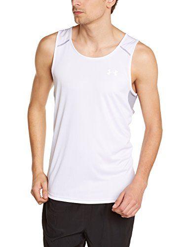 Disminución disfraz estrategia  Under Armour - Camiseta blanca de tirantes para running - Camiseta |  Camisetas blancas, Camisetas, Under armour
