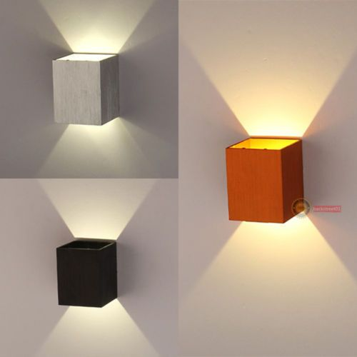 Home Theater Lighting Fixtures: New-Modern-3W-LED-Square-Wall-Lamp-Hall-Porch-Walkway