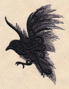 Painted Raven design (UT7556) from UrbanThreads.com