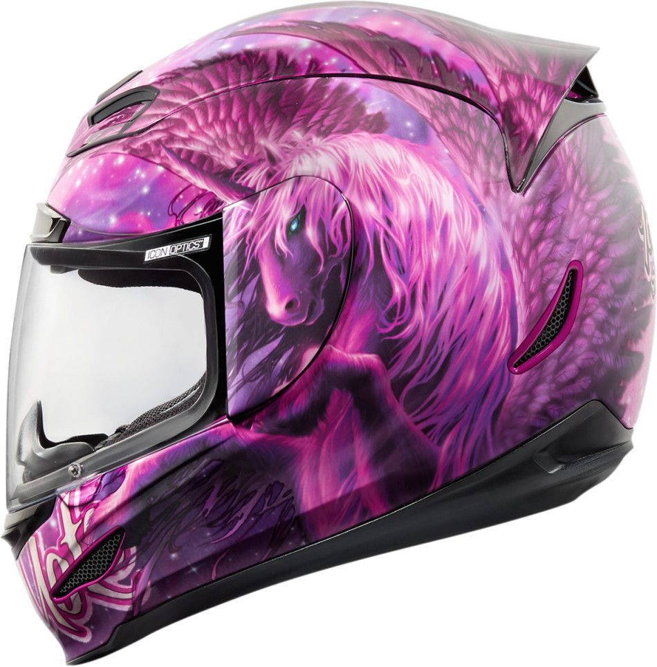 Icon Airmada Sweet Dreams Motorcycle Helmet Purple