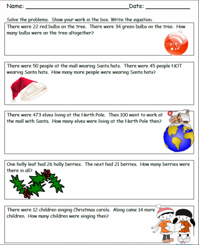 Holiday Math Holiday Math Christmas Math Worksheets Christmas Math