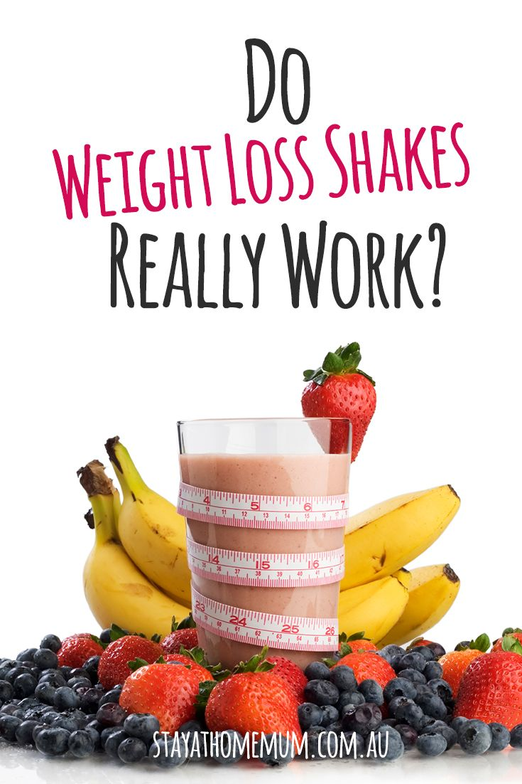 do weight loss shakes work