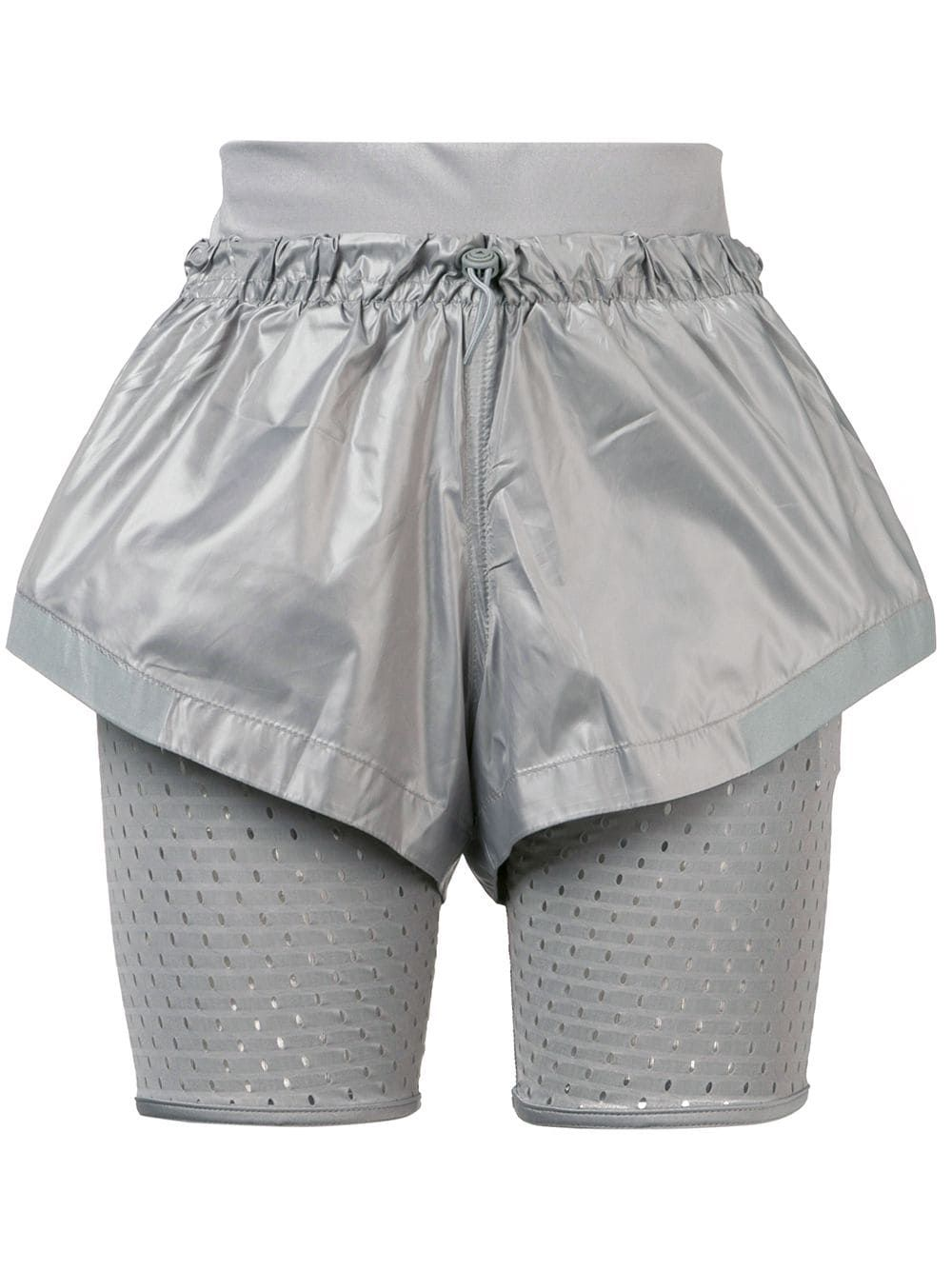 5f7c51cfd Adidas By Stella Mccartney layered performance shorts - Grey in 2019 ...