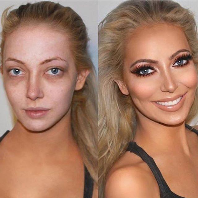 Amazing before & after 😱 #glamprocosmetics #minklashes #beforeandafter #transformation #lovemakeup #makeupinspo #stunning