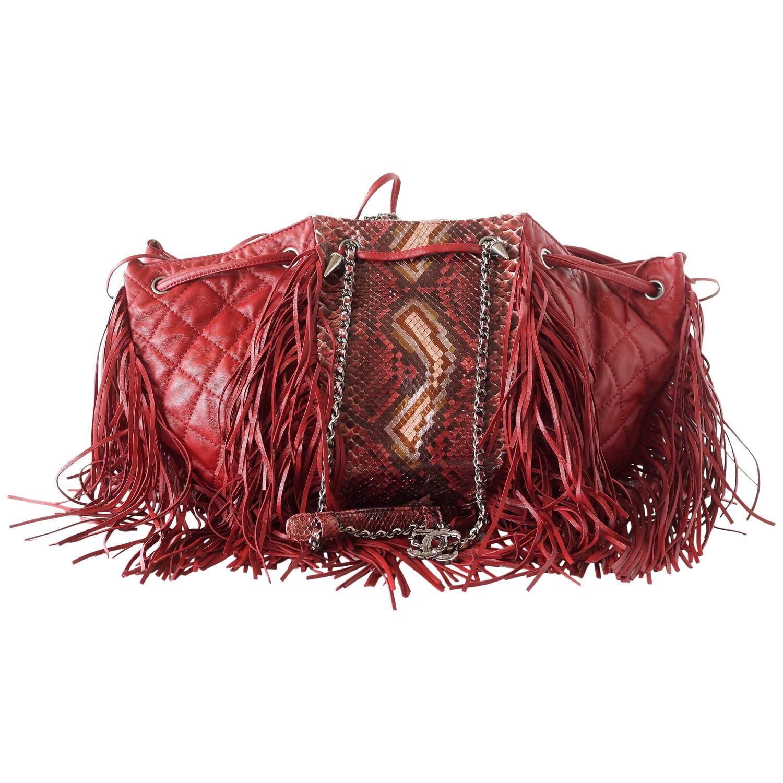 8eeb7441999bd9 Fringe Purse, Chanel Quilted Handbag, Red Handbag, Brown Purses, Fashion  Handbags,