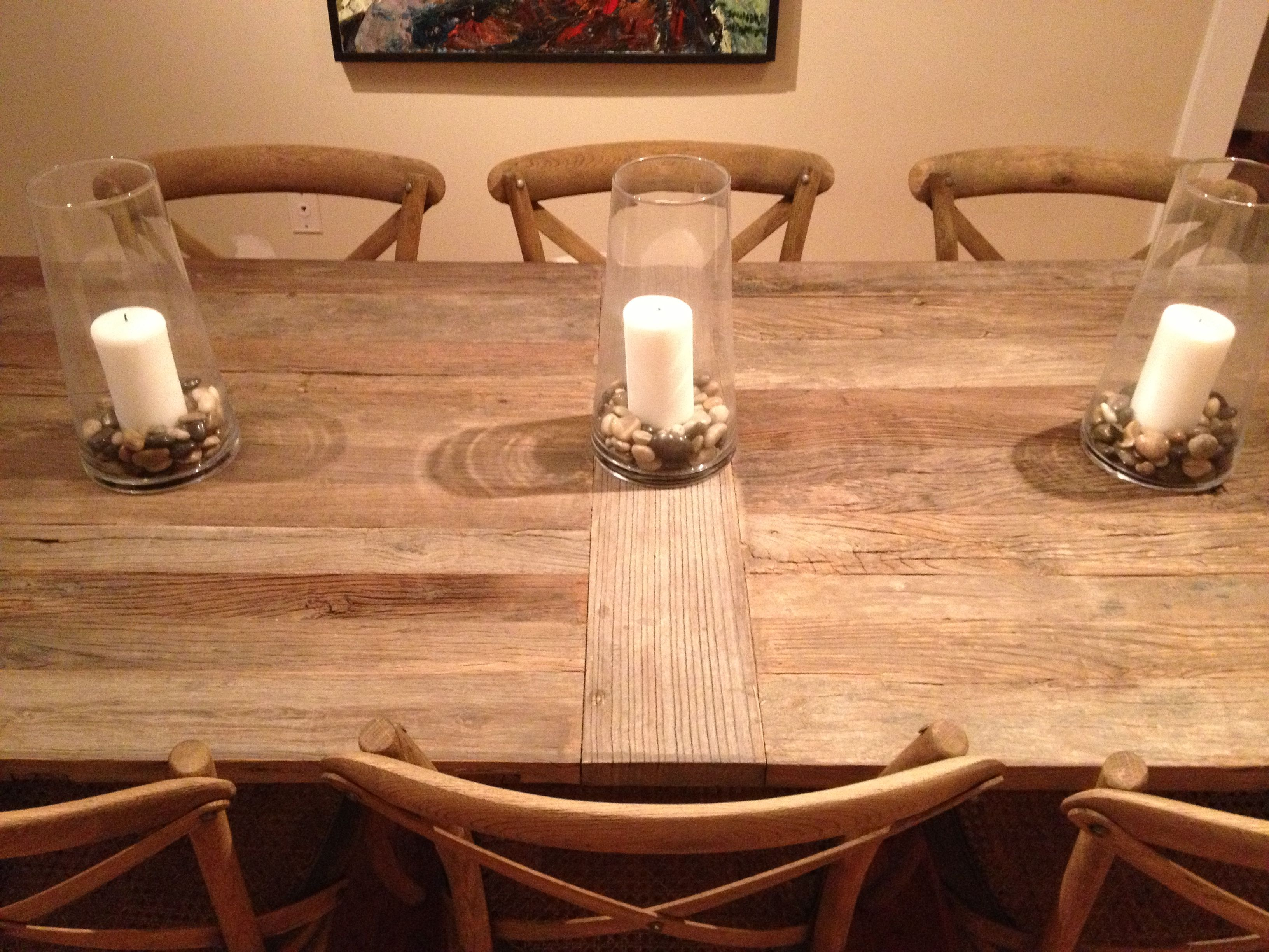Flatiron Dining Table With Madeleine Side Chairs From Restoration Hardware
