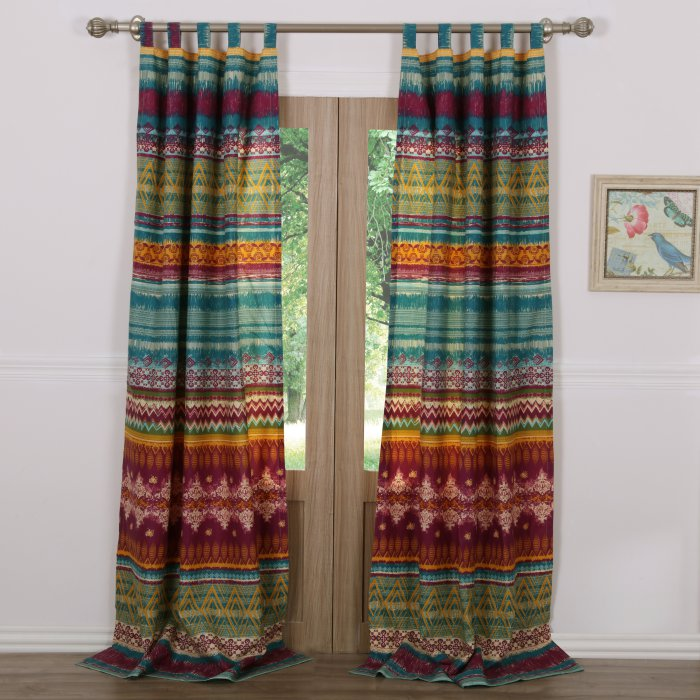 Greenland Home Fashions Southwest Window Panel Pair Greenland Home Fashions Boho Curtains Southwest Bedroom