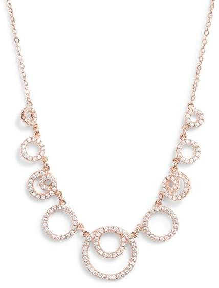 8de93edd3 Double Circle Cubic Zirconia Necklace in 2019   Products   Gold ...