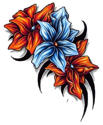Floral Tattoos Designs 56yh 1 Png 329 400 Hawaiian Tattoo Tropical Flower Tattoos Floral Tattoo Design