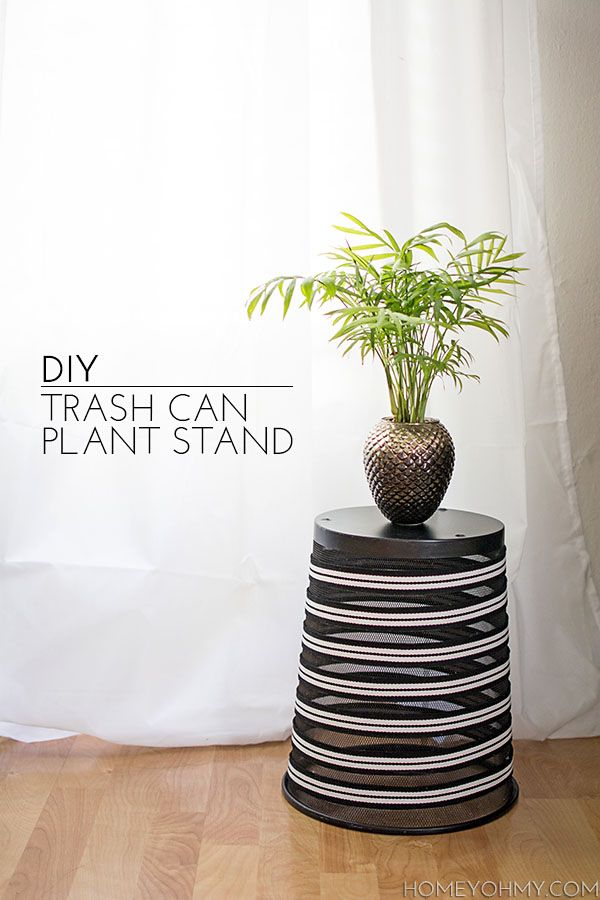 DIY Trash Can Plant Stand Repurpose, Plants and Decorating
