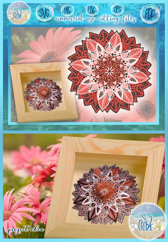 Download 3D Layered Design   Floral Mandala SVG file   Multi ...