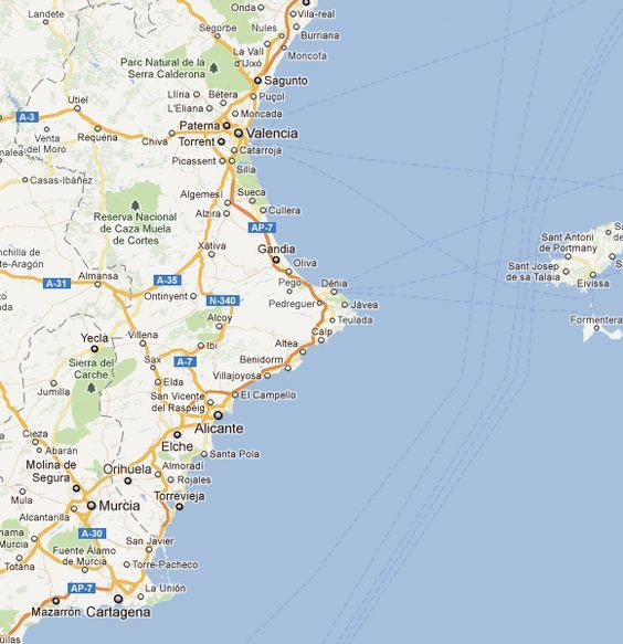 Moraira Spain Map.Teulada Moraira Alicante Spain Mapa Map Spain Alica