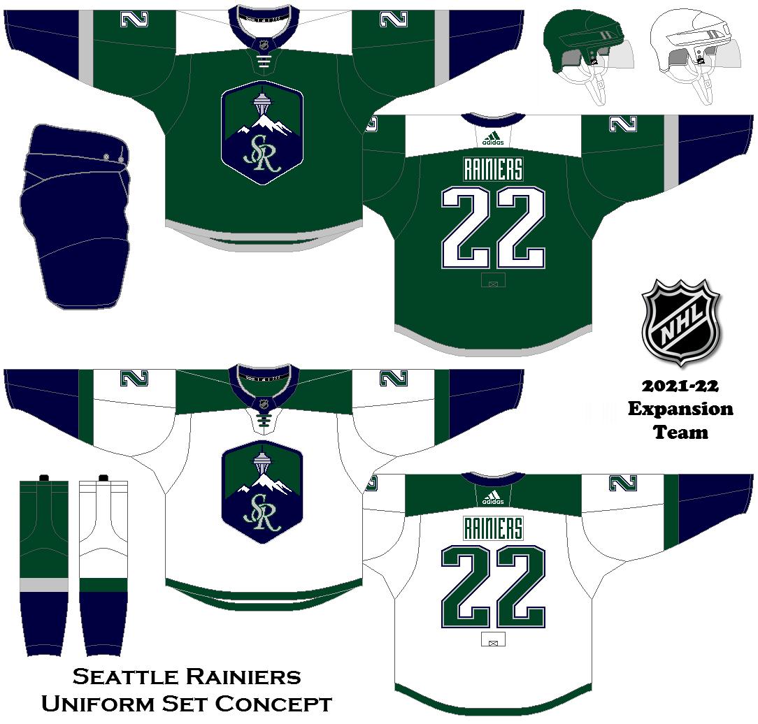 2021 22 Seattle Nhl Concepts Sports Uniforms Nhl Ice Hockey Jersey