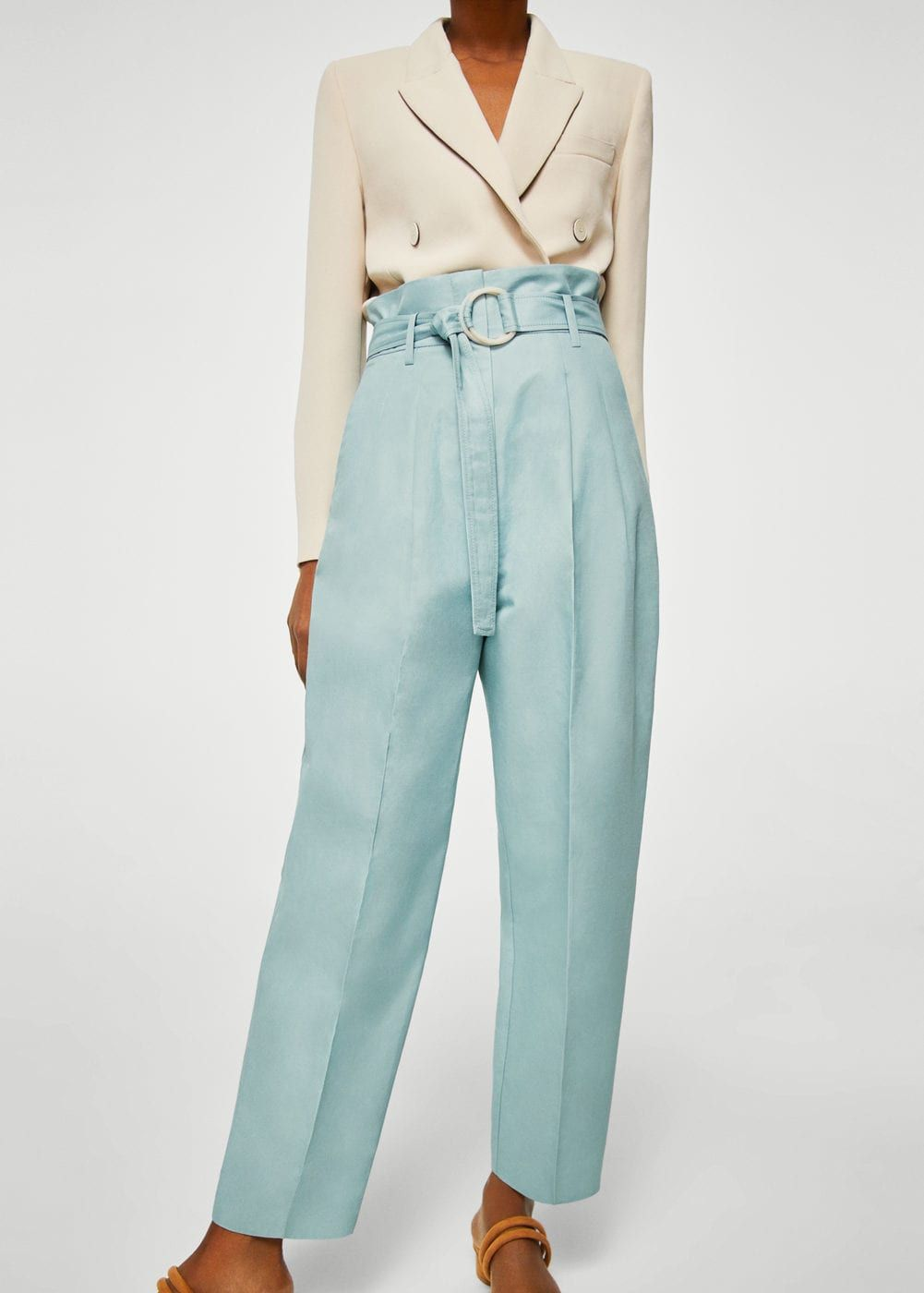 Korte Broek Dames Hoge Taille.Paper Bag Broek Dames S S Fashion Broeken En Mango