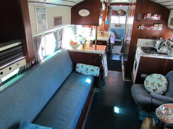 Interior Of 1959 Greyhound Bus Conversion By Subjects Chosen At Random