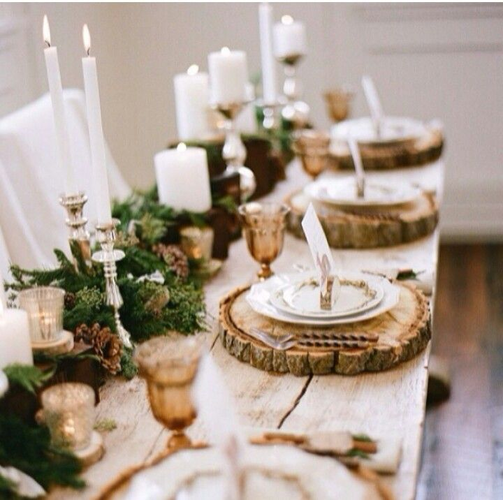 wood-rustic-christmas-center-piece & 25 Rustic DIY Christmas Decorations Youu0027ll Love to Create ...