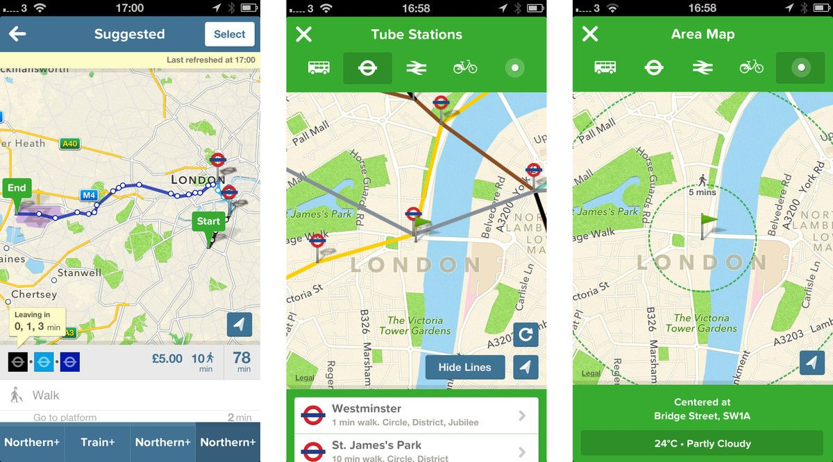 Best iPhone and iPad apps for getting around the London