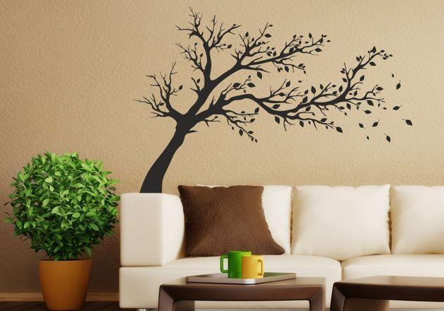 Wandtattoo   037 Wandtattoo Windflüchter Baum   Ein Designerstück Von  Nikima Shop Bei DaWanda