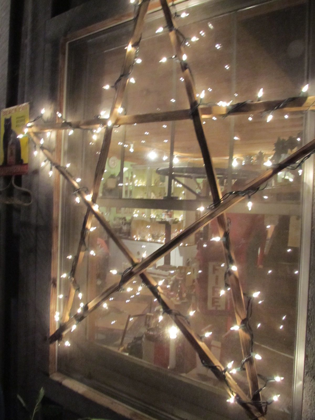 Large Lighted Stick Star