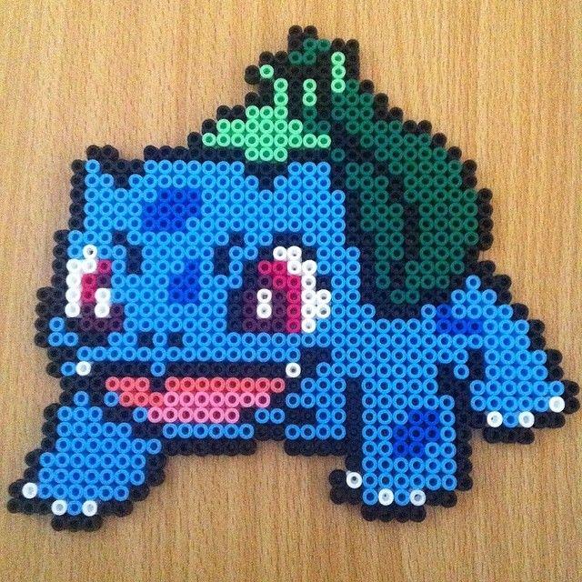 Bulbasaur pokemon hama beads by hamabeadmania hama beads pinterest hama repasser et perles - Perle a repasser ikea ...