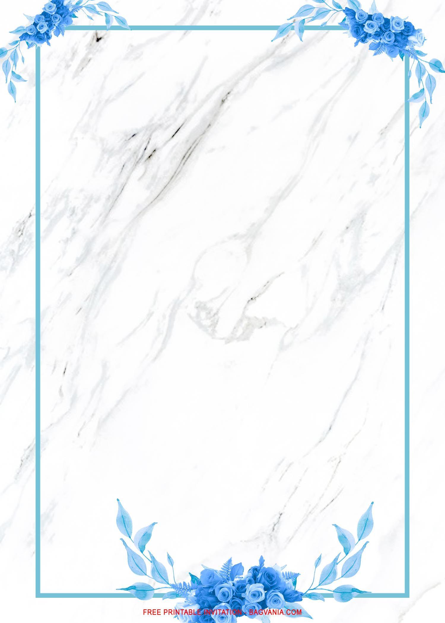 free printable royal blue roses wedd