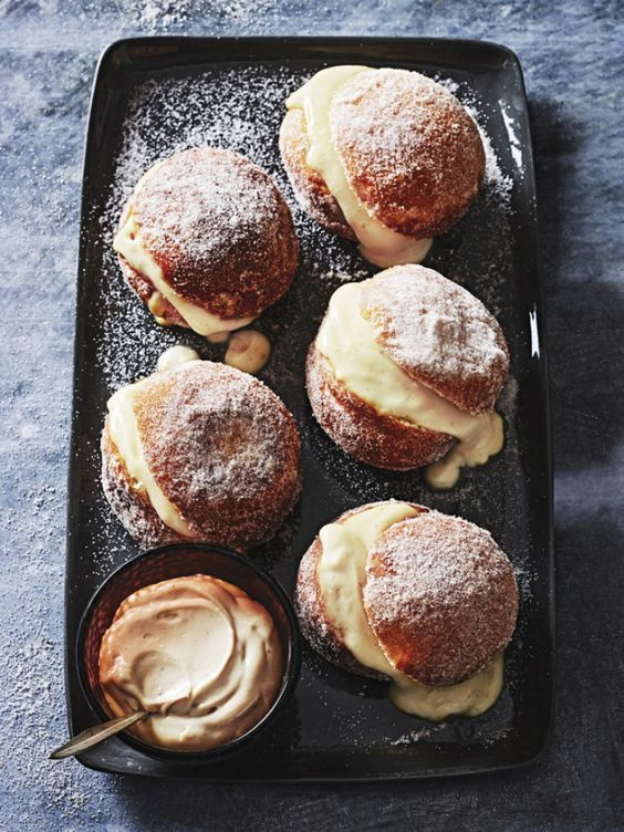 Brioche Doughnuts with Coffee Cream. These incredibly light and sweet doughnuts are a must-have at any afternoon tea.