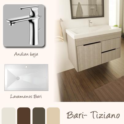 El lavamanos bari con su dise o geom trico minimalista - Lavamanos con mueble ...