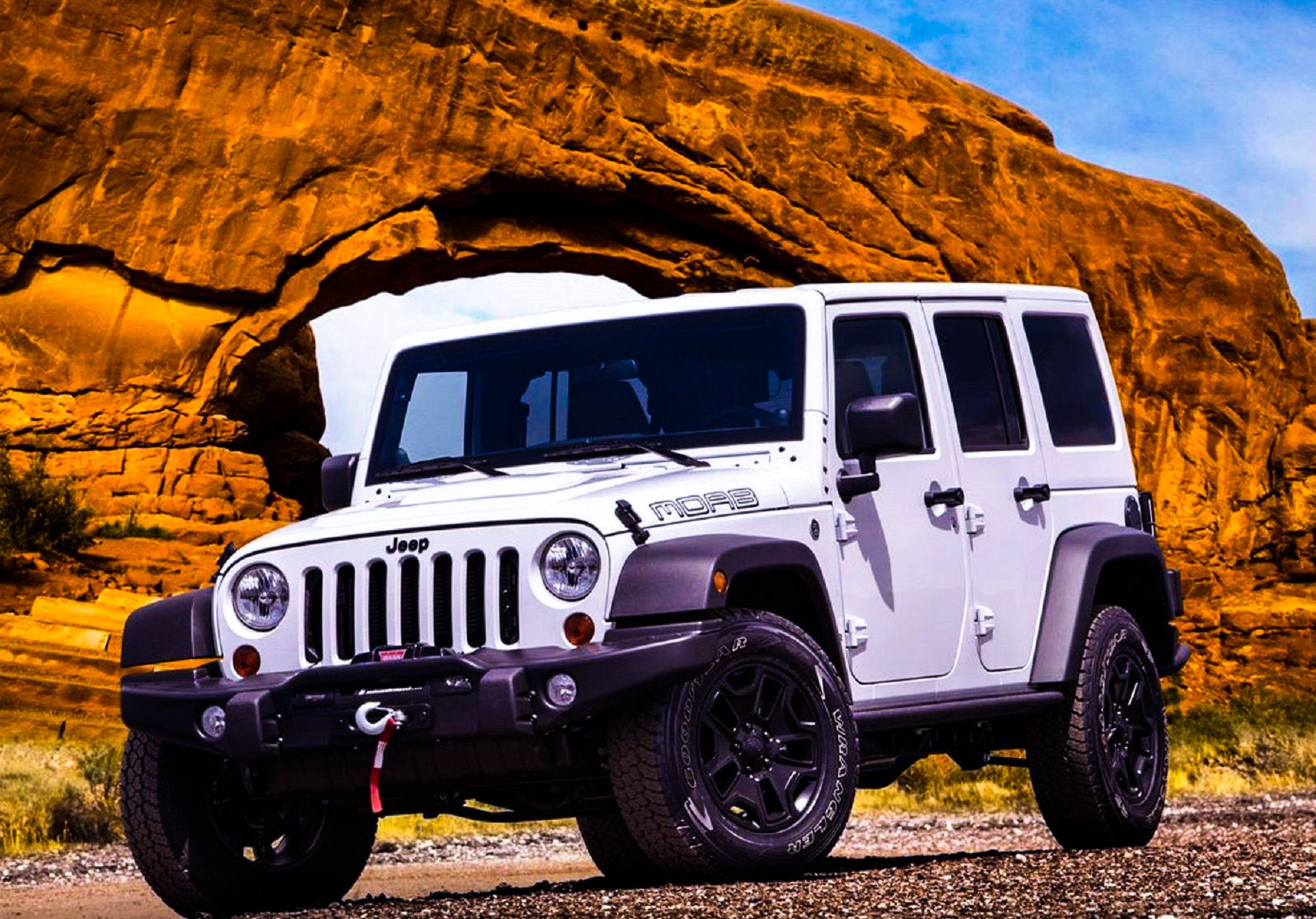 2014 White Jeep Wrangler Diesel 4Door MOAB. Jeep