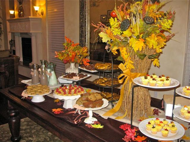 Fall Baby Shower Theme : I LIKE All The Cake Stands And Height!