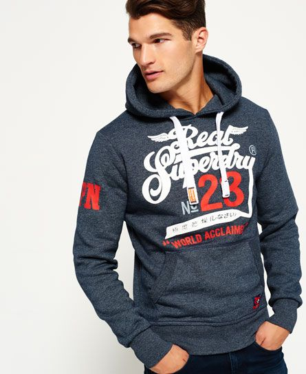 Superdry Sweat À Capuche MarineMode Acclaimed Drop Double Bleu 9HWDE2I