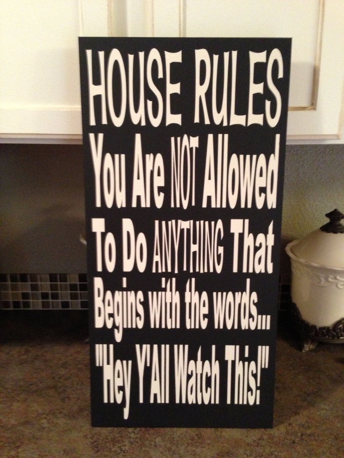 Funny House Rules - Year of Clean Water