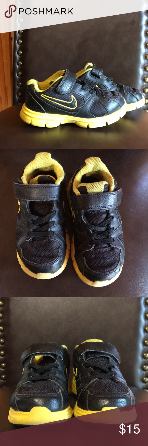Toddler Black Nike Sneakers Size 9 Black Nikes Black Nike Sneakers Nike Tennis Shoes