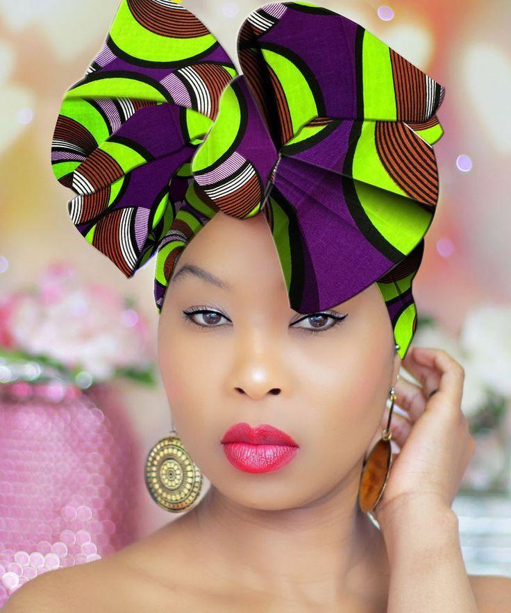 HEAD WRAP - Hijab - African Head Wrap - Turban - Headband  RoyalHeadWraps 443a6a3764a