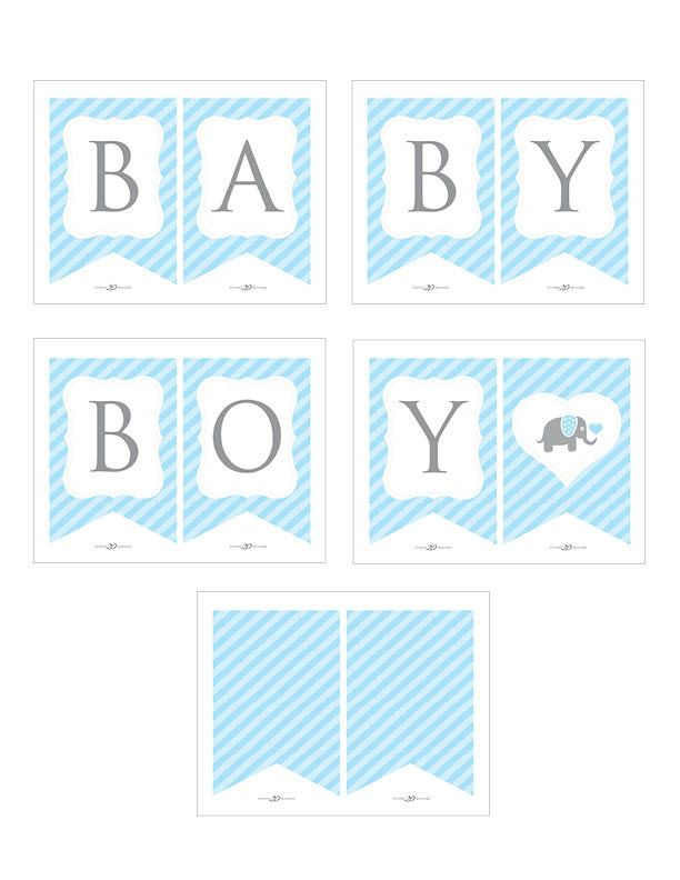 Boy Blue Elephants Welcome Home New Baby Bunting