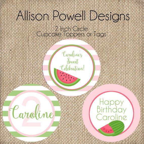 Watermelon Birthday Party Summer Birthday by allisonpowelldesigns