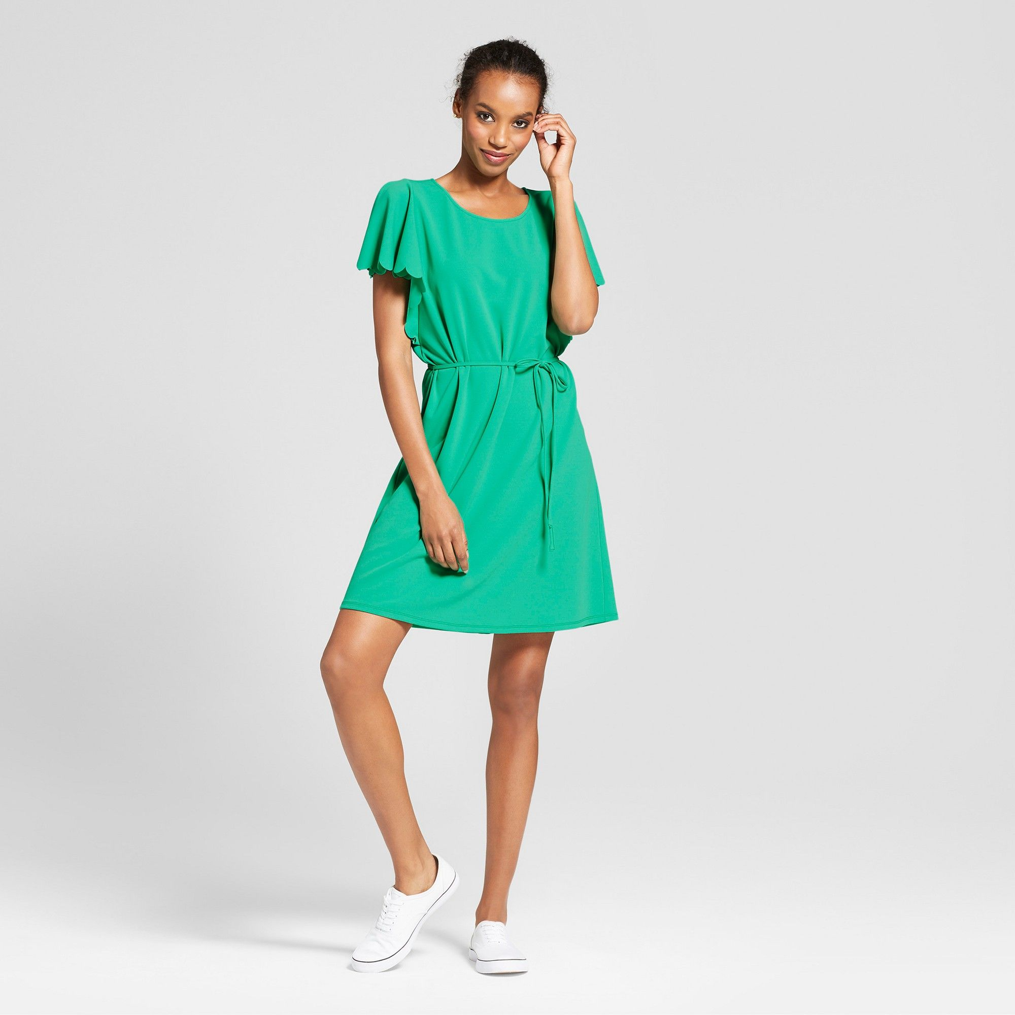 761bc3d86d7 Women's Ponte Scallop Sleeve Dress - A New Day Green S | Products ...