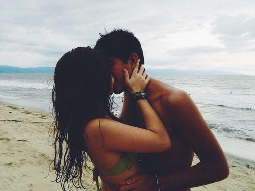 Teen naked teens make out on beach big lips