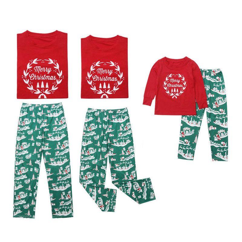 kaiCran Family Pajamas Matching Clothes Merry Christmas 2Pcs Pjs Outfits Sets