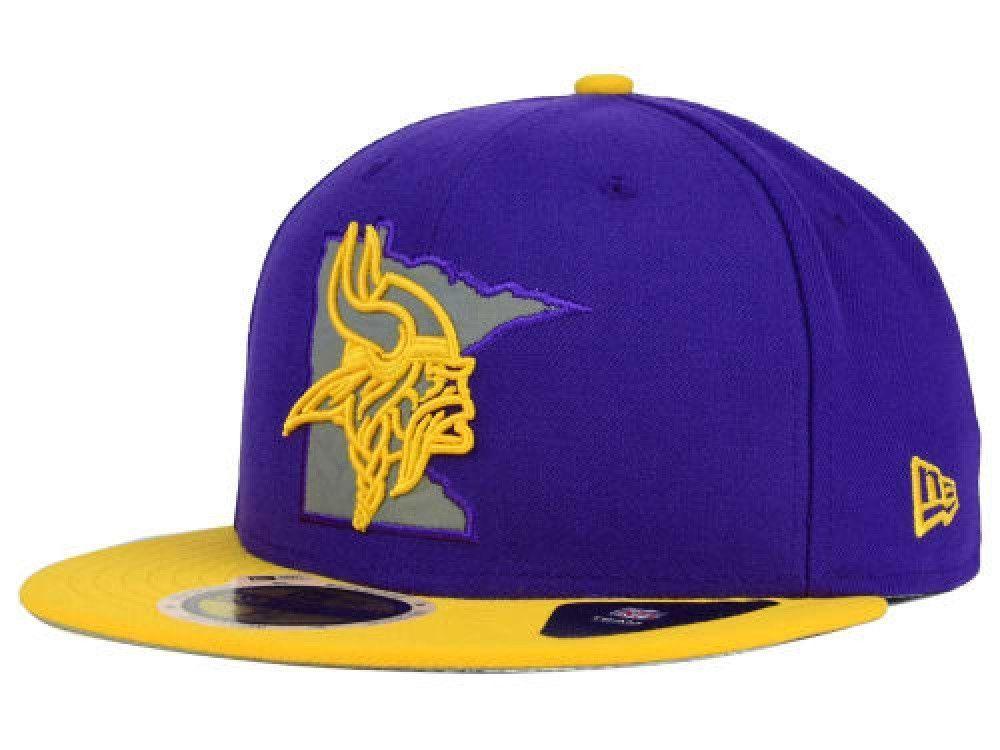Minnesota Vikings Flat Brim Snap Back Hat By M + N  34c46aee86ce