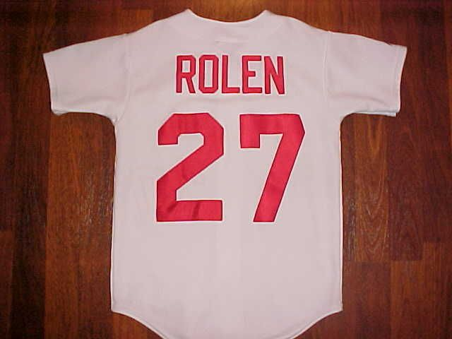 f2c27bd2 Majestic MLB Central St. Louis Cardinals Scott Rolen #27 BOY White ...