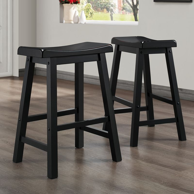 Winsome 24 In Saddle Seat Stool Counter Stools Bar Stools Stool
