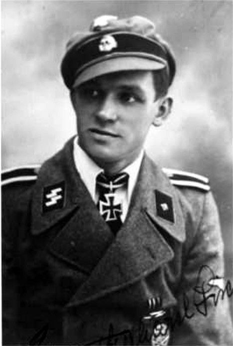 Knight's Cross Holder SS-Unterscharführer Gerhard Fischer, of the 5th SS-Panzer-Division Wiking.