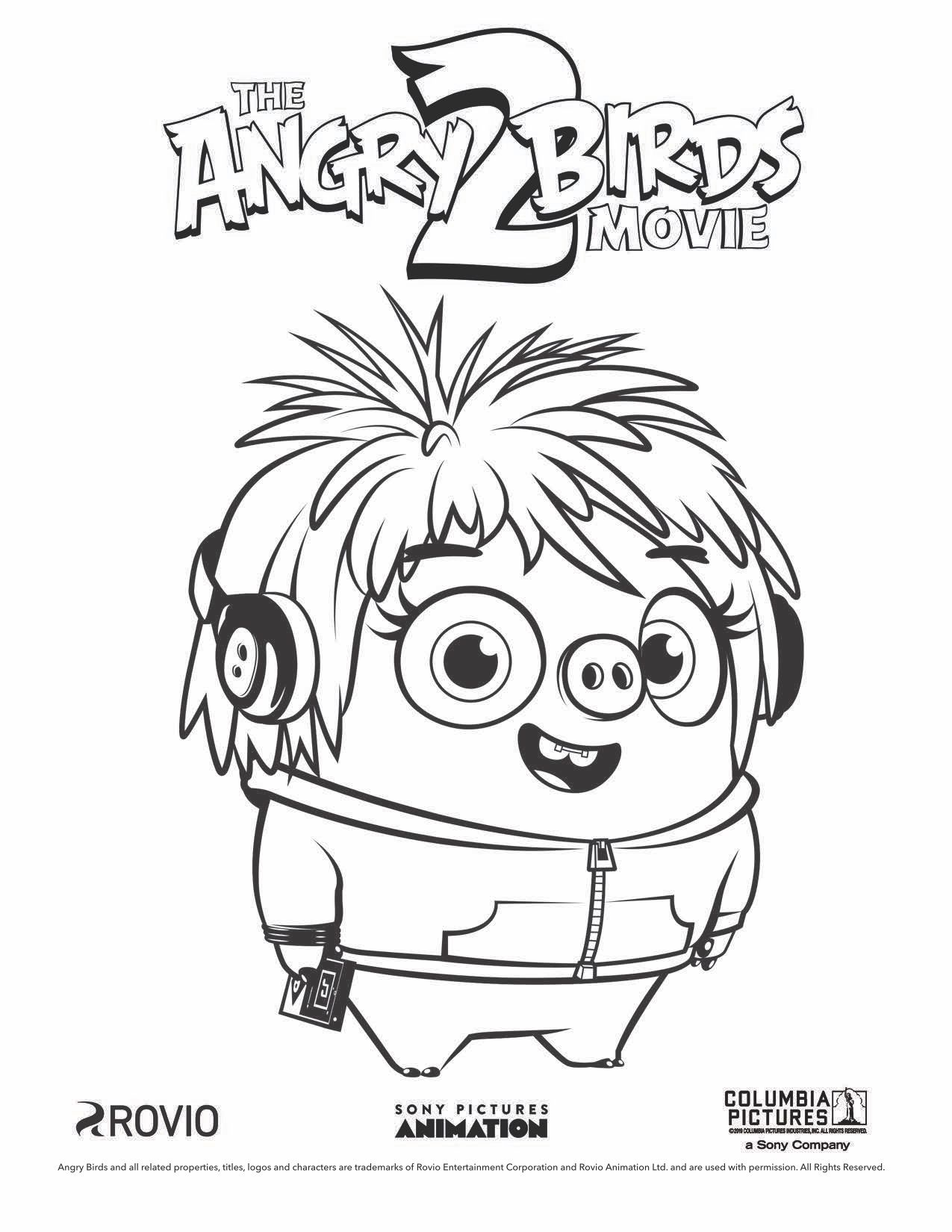 The Angry Birds Movie 2 Courtney Coloring Page Cartoon Coloring Pages Coloring Books Owl Coloring Pages