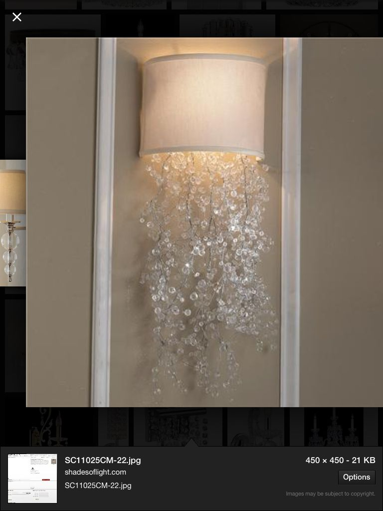 Crystal Wired Beads Looks Like Pouring Water Crystal Sconce Sconces Crystal Wall Sconces