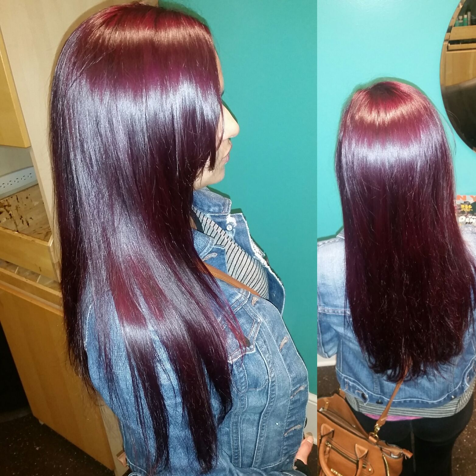 I Color 4vv And Kenra Violet Booster Created This Dark Plum Color
