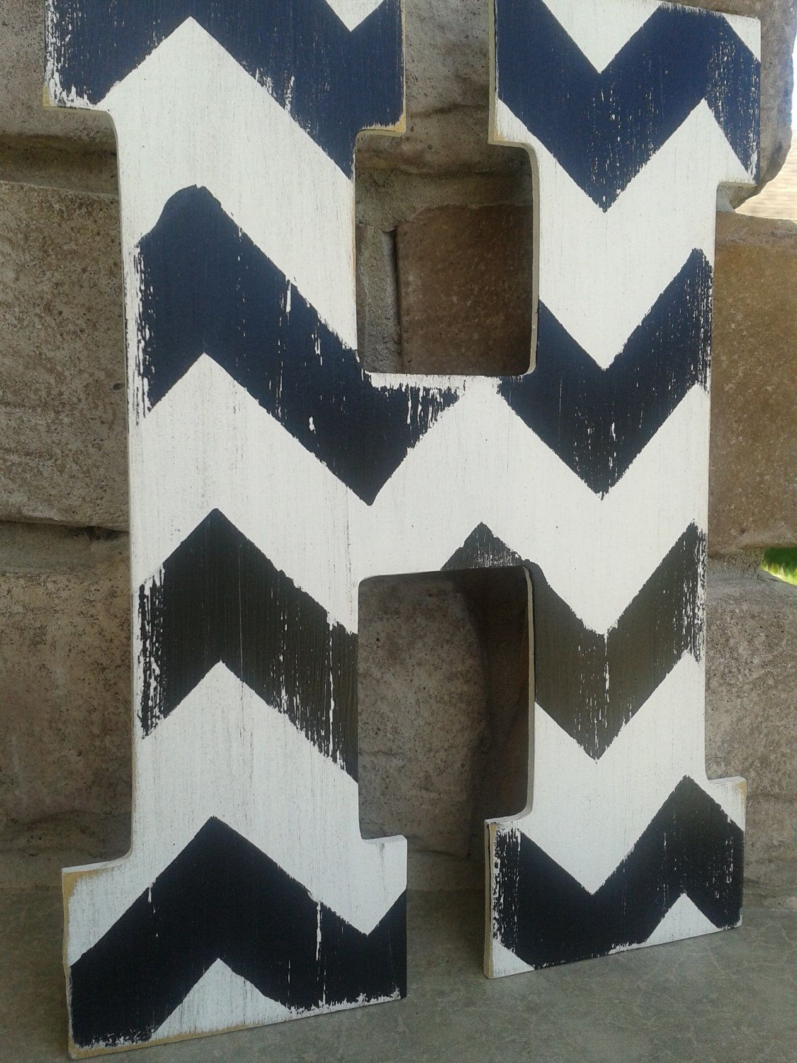 Chevron Letters Bridesmaids Gifts Wedding Under 20 Custom Distressed Wood For Home Decor