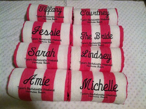 Personalized Beach Towels Via Etsy For Wedding Party Family